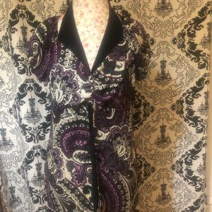 Black and Purple Paisley Blouse